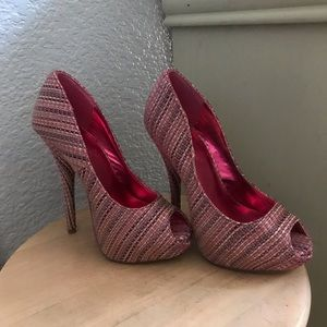 Sassy pink and gray heels